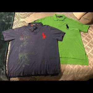 2 Polo Ralph Lauren shirts XL